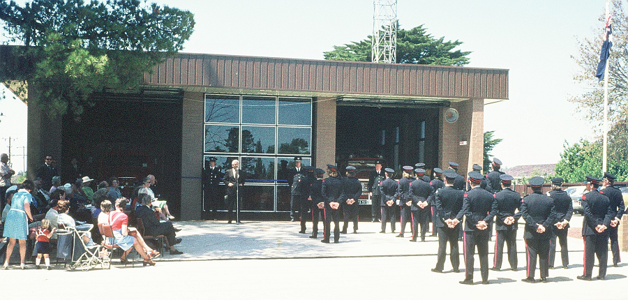 New Fire Station opening 1974