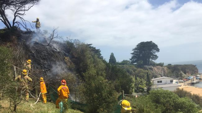 Daveys Bay Beach Fire